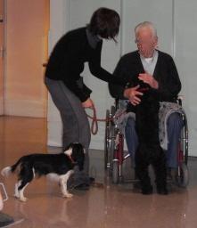 Séance avec une personne âgée